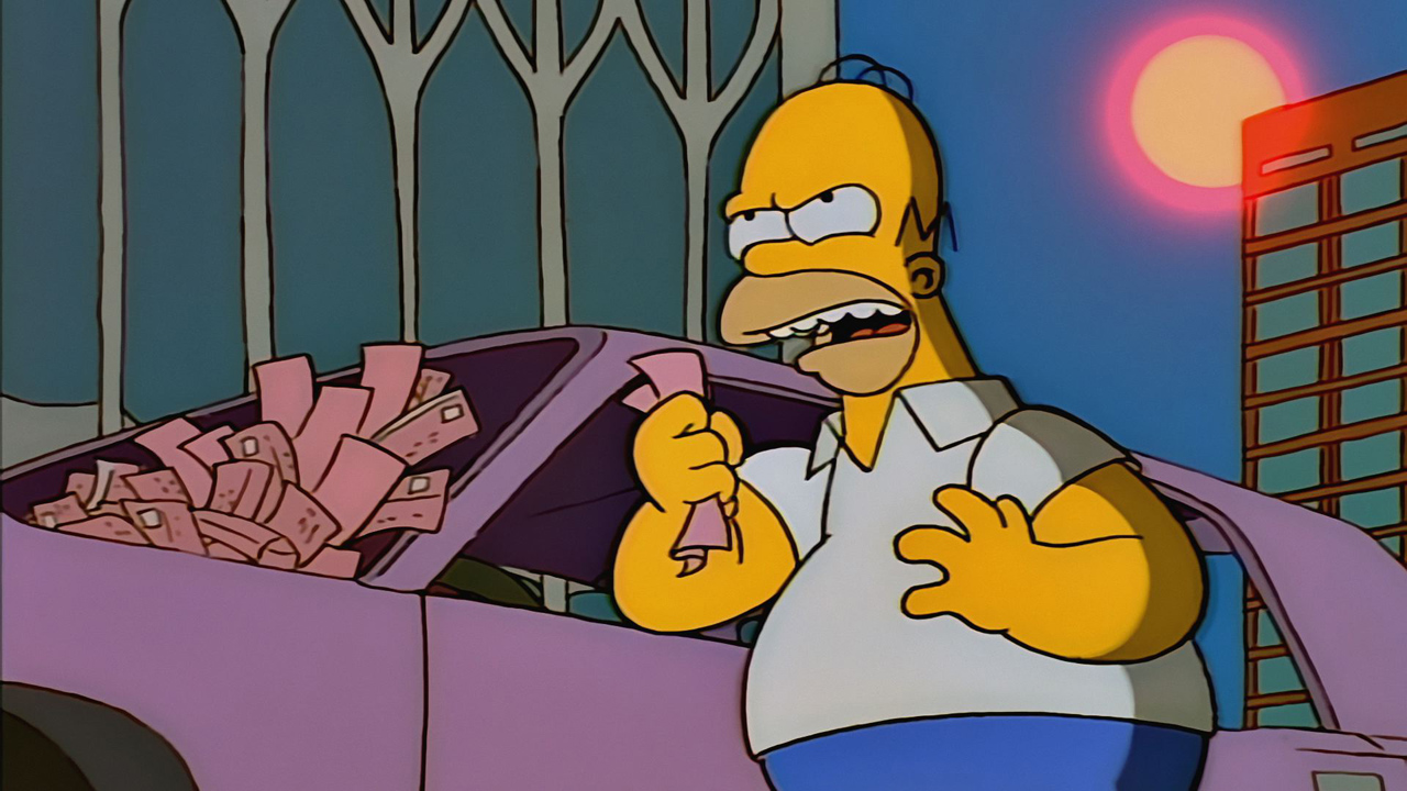 Homer wants to fight a new york city parking ticket