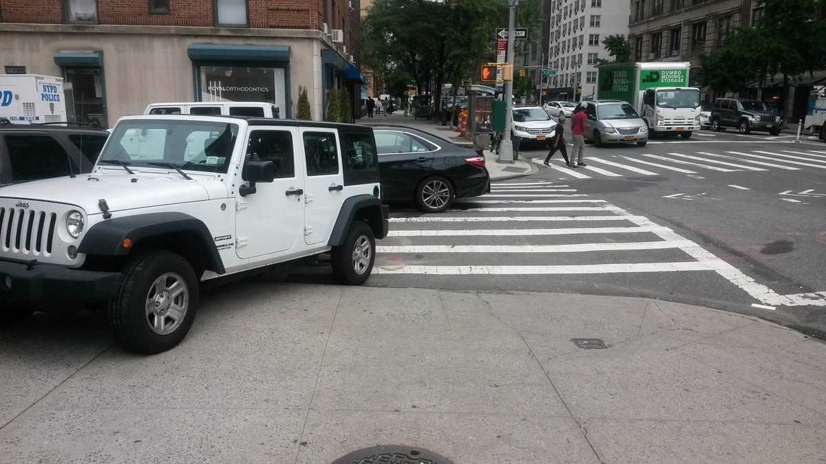 Parking On A Sidewalk Is A Big No in NYC