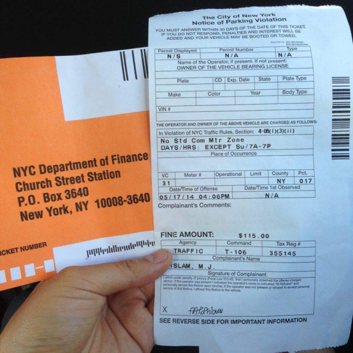 New York City Parking Ticket