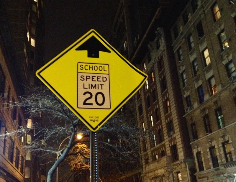 Always drive safely in a school zone